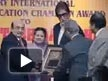 BIG B being awarded with the Polio Eradication Champion Award